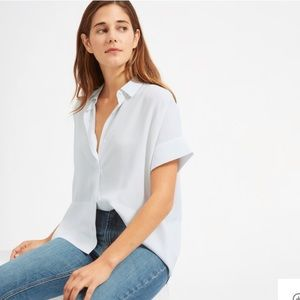 Everlane Silk Short-Sleeve Square Shirt